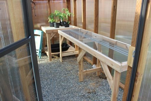 Custom Made Greenhouse Watering Table