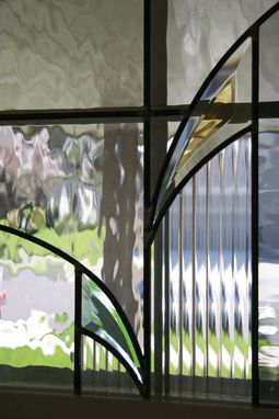 Custom Made Stained Glass In Entry Way