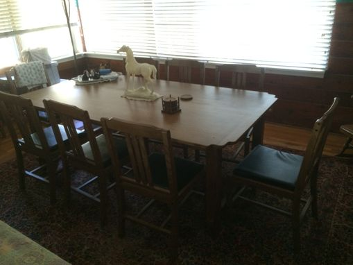 Custom Made Quarter Sawn White Oak Dining Room Set