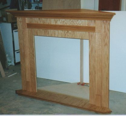 Custom Made Custom Oak Mantel