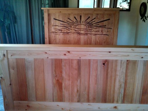 Custom Made Inspired Design Custom Craftsman Queen Bed Solid Wood - Your Design Or Ours