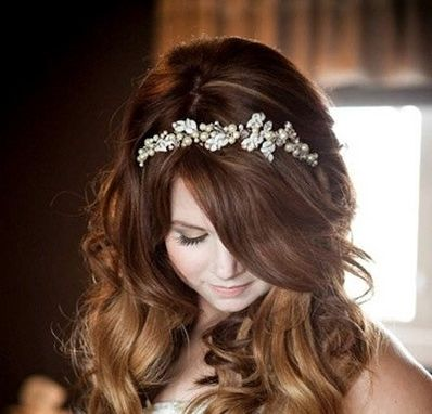 Custom Made Vintage Leaves And Pearls Wedding Tiara, Wedding Hair