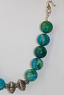 Custom Made Beautiful Shades Of Green & Blue In Large Round Sea Quartz Balls