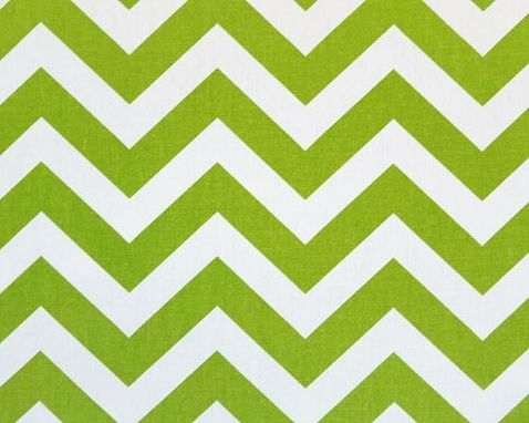 Custom Made Wedding Table Runner Chartreuse Green Chevron Stripes Zig Zag Buffet Dinner Party