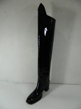 Custom Made Black Glossy Patent Leather Boots Outside 32¨Tall Inside 26¨Tall
