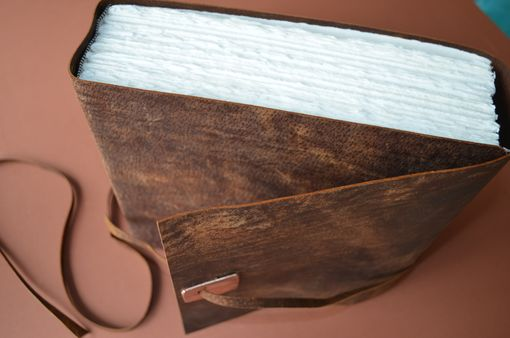 Custom Made Custom Order Distressed Leather Journal Very Large Handmade Bound (494)