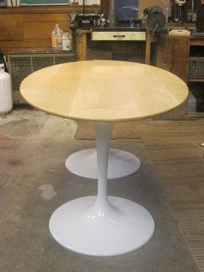 Custom Made Modern Sarrieen Style Pedestal Table