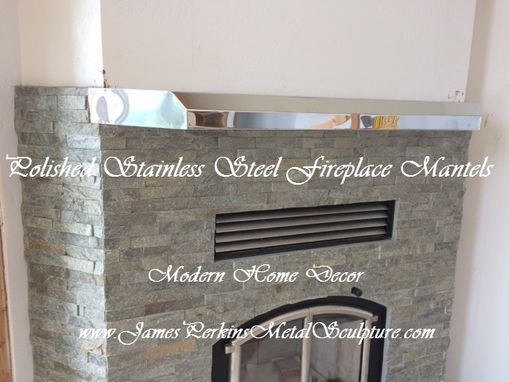 Custom Made Modern Fireplace Mantels / Mirror Finish / Polished Stainless Steel