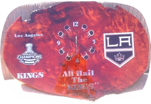 Custom Made Los Angeles Kings Hockey Wall Clock