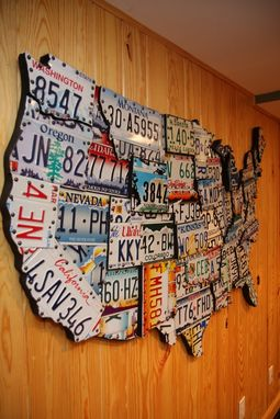 Custom Made License Plate Art