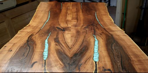 Custom Made Turquoise Inlay Dining Table