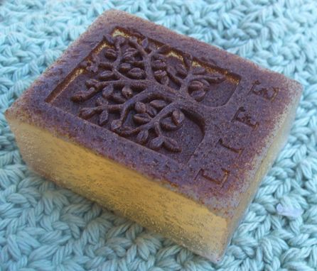 Custom Made Tree Of Life Soap - Tea Tree Oil, Honey, Calendula And Apricot Seed - Exfoliating