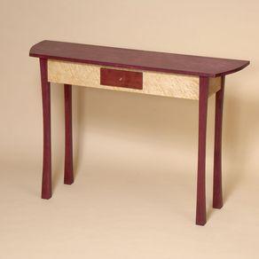 Purpleheart And Birdseye Maple Console Table By Darrin Vanden Bosch