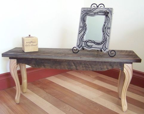 Custom Made Small Barnwood Table