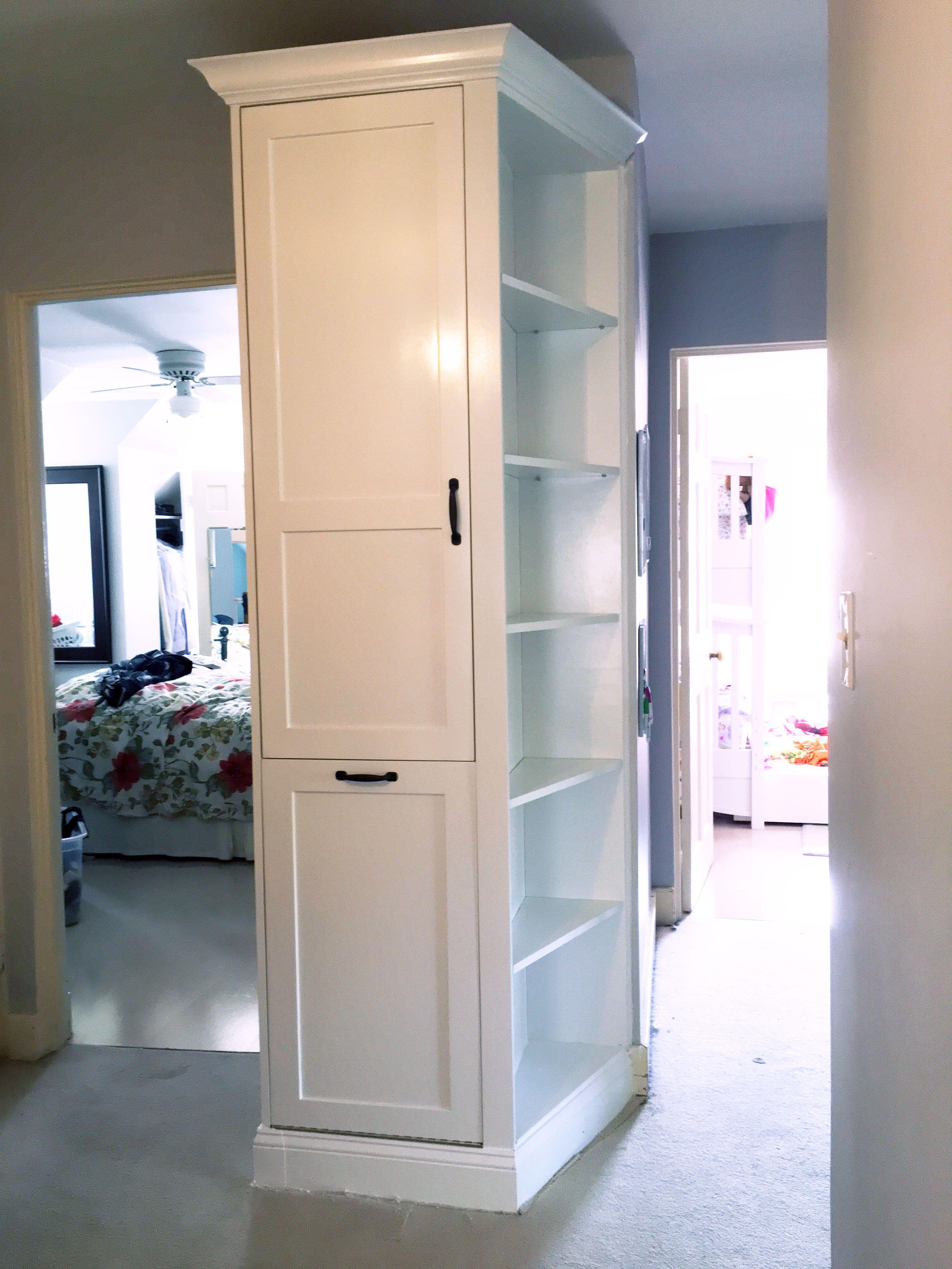 Custom Made Laundry Chute And Hall Storage Unit