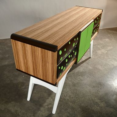 Custom Made Modern Credenza, Sideboard, Buffet With Drawers