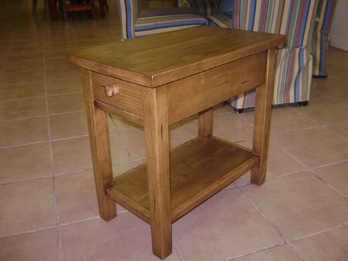 Custom Made Pine End Table