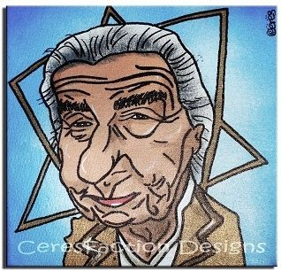 Custom Made Golda Meir - Original Caricature Painting On Canvas 20x20cm