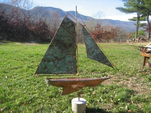 Custom Made Copper Sailboat Weathervane