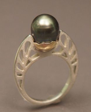 Custom Made South Sea Pearl In Sterling And 14 Kt Gold