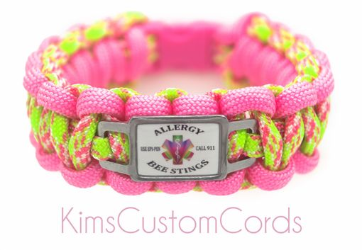 Custom Made Personalized Medical Alert Id Bracelets With 550 Paracord