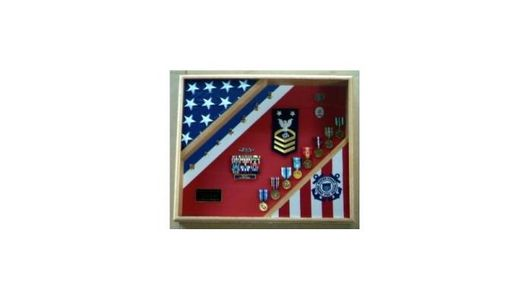 Custom Made Coast Guard Flag Display Case
