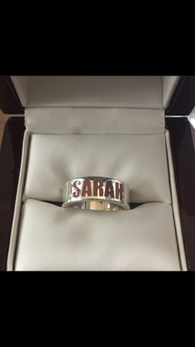 Custom Made Personalized Name Band