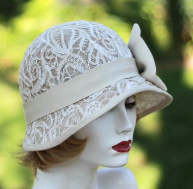 Custom Made 1920'S Summer Lace Cloche Sun Hat