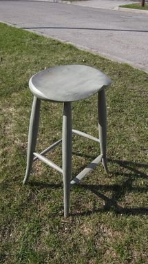 Custom Made Flared Leg Barstool
