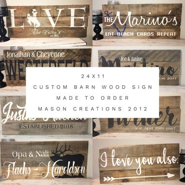 Custom Made 24x10 Custom Pained Barn Wood Made To Order Sign