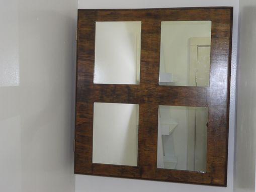 Custom Made Mirrored Medicine Cabinet