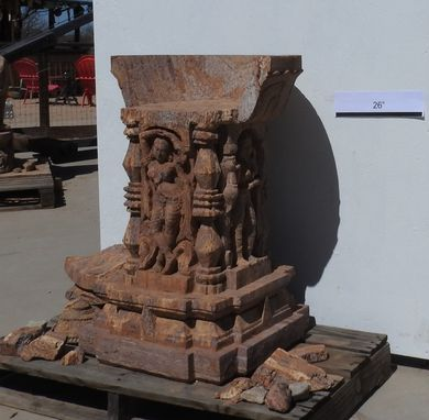 Custom Made Throne Carved In Sand Stone. In Process Of Restoration.