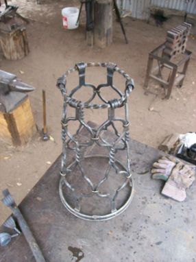 Custom Made Decorative Hand Forged Fountain Base