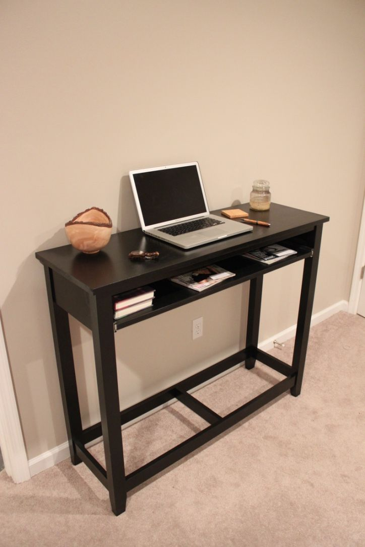Tall Computer Desk With Sliding Tray