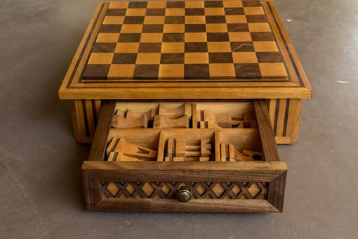 Custom Made Custom Crafted Wood Chess Set