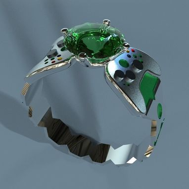 Custom Made X-Box Geeky Engagement Ring
