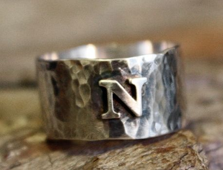 Custom Made Personalized Sterling Silver Initial Ring