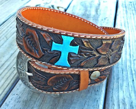 Custom Made Custom Western Floral Belt Hand Carved In Usa
