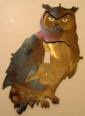 Custom Made Owl Metal Wall Switch Plate Cover