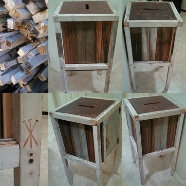 Custom Made Reclaimed Wood Box Cabinet