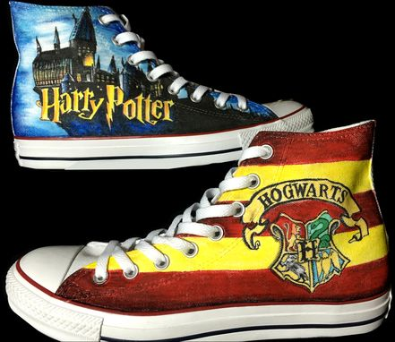 Custom Made Hand Drawn Harry Potter Shoes