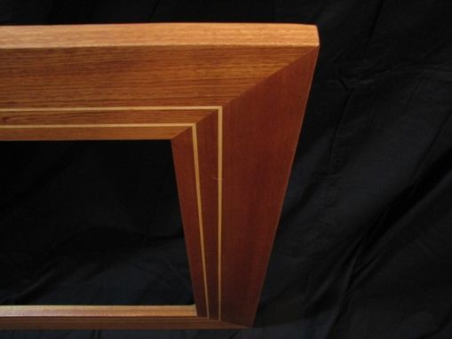 Custom Made Sapele Frame With Maple Inlays