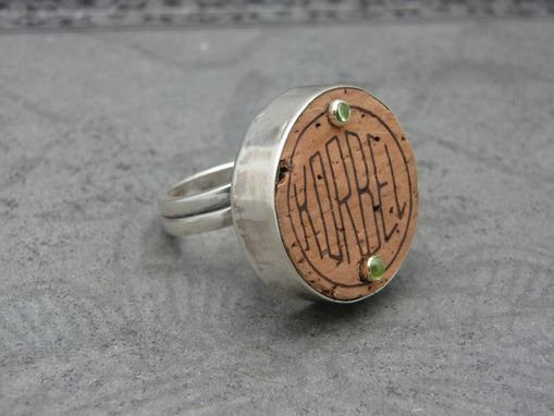 Custom Made Recycled Wine Or Champagne Cork And Sterling Rings