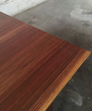 Custom Made Two-Tier Coffee Table In Walnut