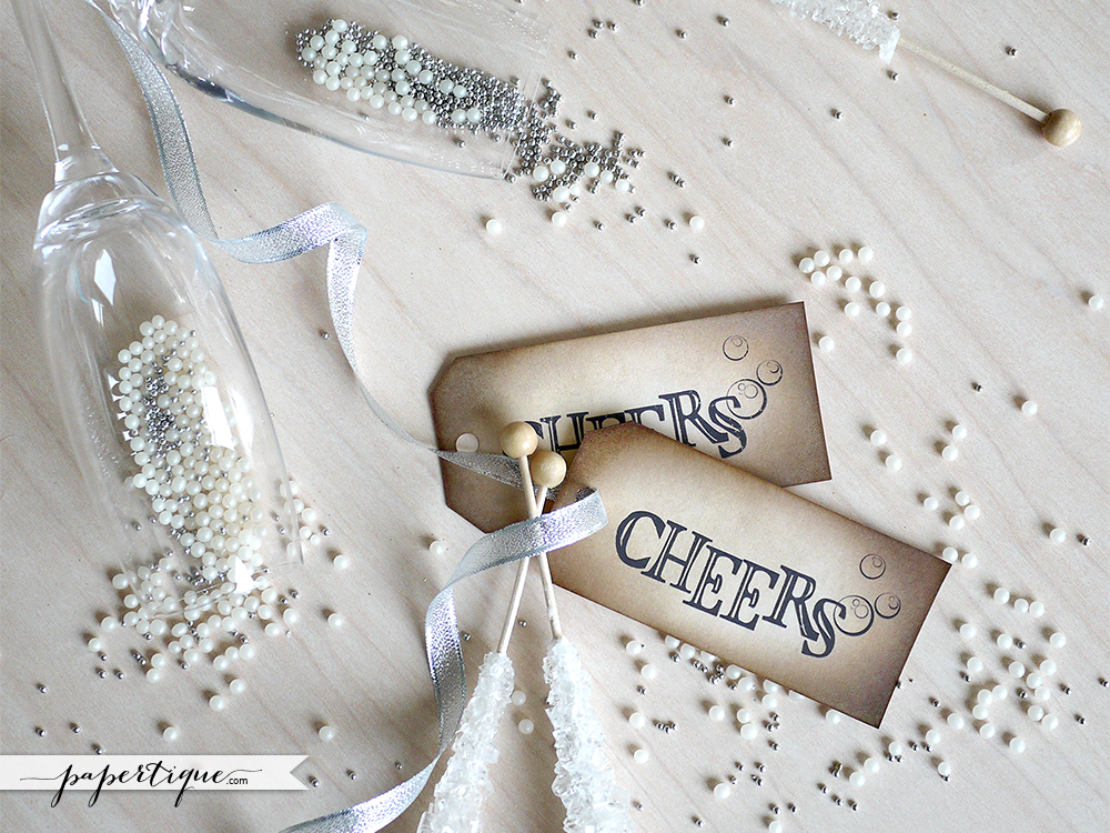 Hand Crafted Cheers Tags Rustic Champagne And Wine Tags Eco
