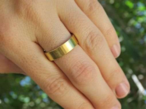 Buy Hand Made Mixed Metal Wedding Band, Golden Brass Silver Ring ...