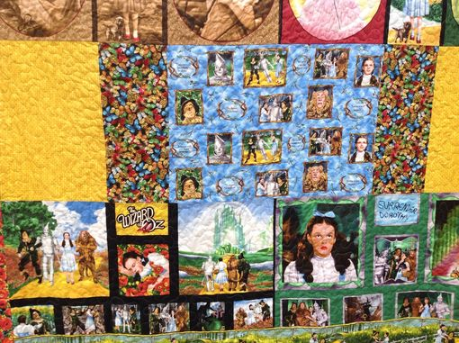 Custom Made Custom Wizard Of Oz Movie Scenic Dorothy Poppy Fields Panel Quilt