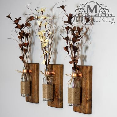Custom Made Rustic Wall Sconces