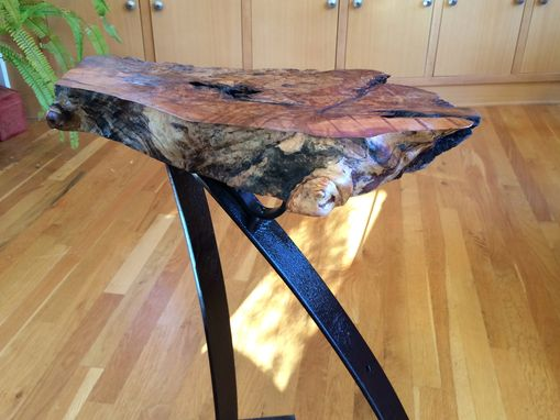 Custom Made Urban Industrial Accent Table, Side Table, Coffee Table