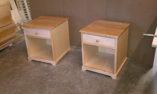 Custom Made Maple/Cherry Enclosed Base Night Stands